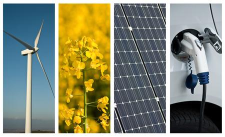 지속 가능한 개발의 콜라주 스톡 콘텐츠