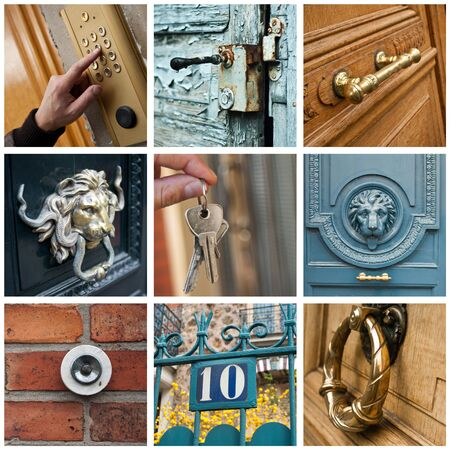 private property: Building private property entry collage