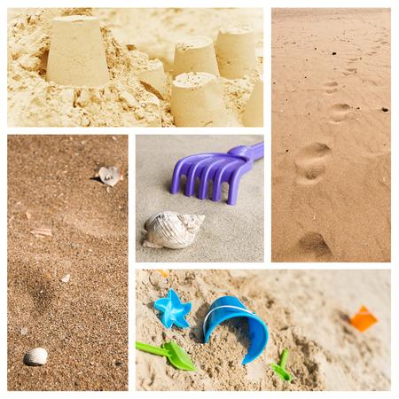 sandcastle: sandcastle in the beach collage