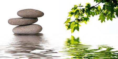 piedras zen: Fondo de la bandera zen