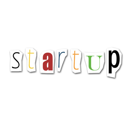 new account: creative word startup collage