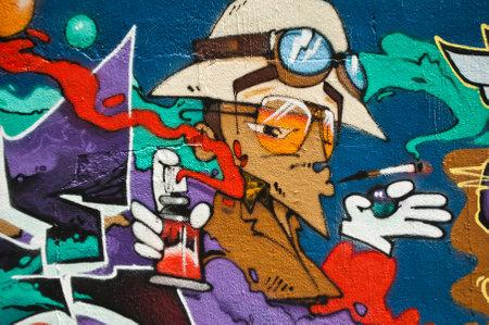 hat boy day graffiti cigarette exhibition wall spray art painter