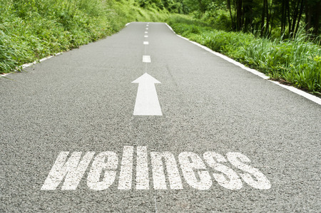 che illustra il concetto sulla strada del benessere e buona salute