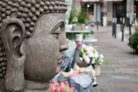 stoned: stoned buddha statue in outdoor Stock Photo