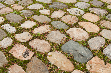 cobbles: texture of cobbles with grass