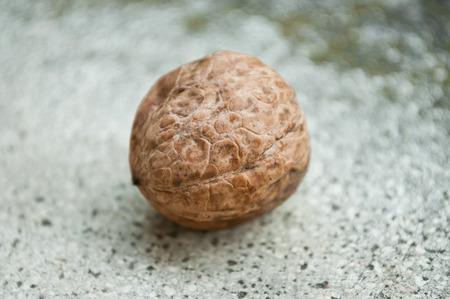 stoned: walnut on stoned background Stock Photo
