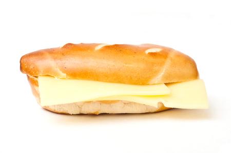 alsatian: alsatian mini sandwich  with cheese on white background