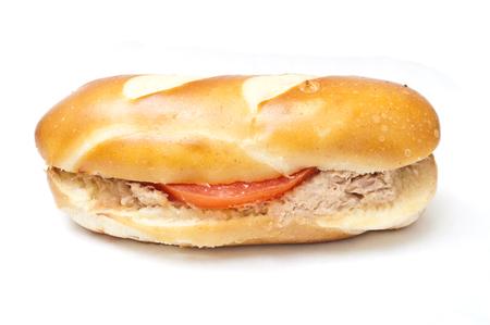 alsatian: alsatian mini sandwich  on white background Stock Photo