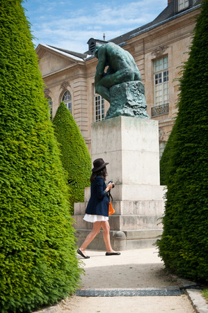 rodin: the thinking in Rodin museum in Paris - taken 14 June 2013