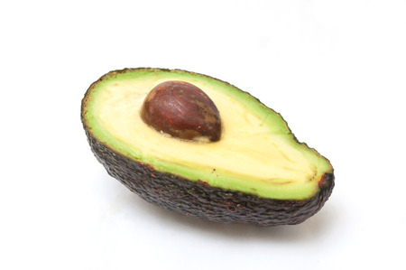 closeup of avocado on white background Stock Photo