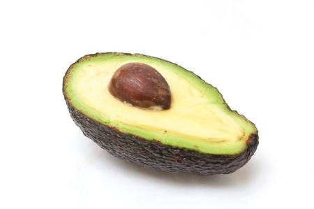 closeup of avocado on white background Standard-Bild