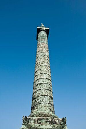 austerlitz: column at Vendome place in Paris