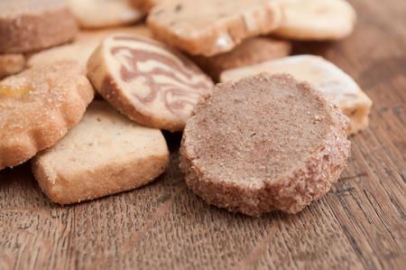 alsatian: closeup of alsatian cookies on wooden background