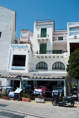 els: CADAQUES - Spain  - 06 June 2016 - Els Pescadors restaurant in Cadaques - Costa Brava