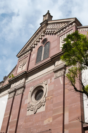 jewish town: synagogue in Mulhouse - Alsace - France