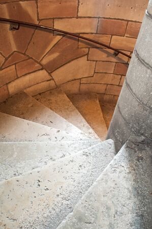 stoned: stoned circular stair
