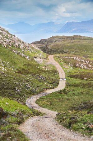skye: hiking trail at skye Island in Scotland