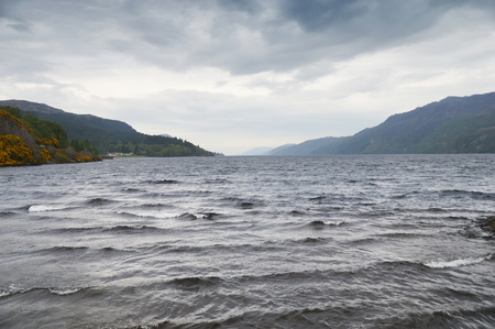 loch ness: loch ness lake cloudy - Highlands - Scotland