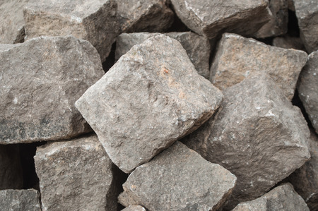 stoned: closeup of stoned cobbles for road paving rconstruction
