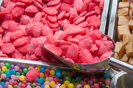 gelatina: closeup of colorful candies at the market