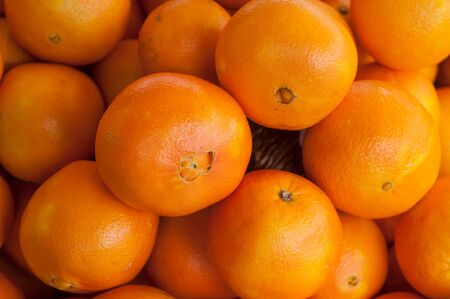 closeup of orange at the market