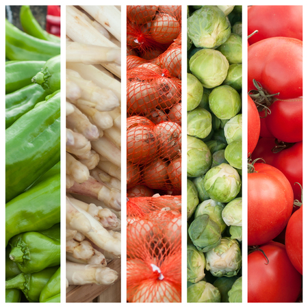 collection of fresh vegetable at he market collage