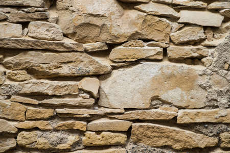 closeup of ancient stoned wall texture
