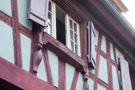 retail of typical architecture of medieval house in alsatian village in France