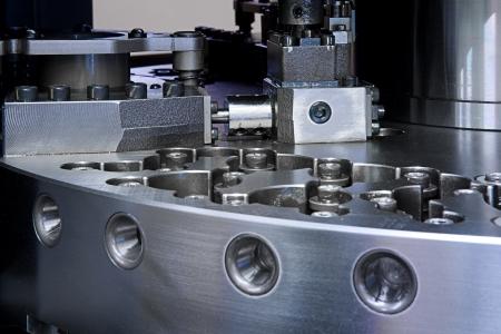 cnc machine: close up of CNC machine