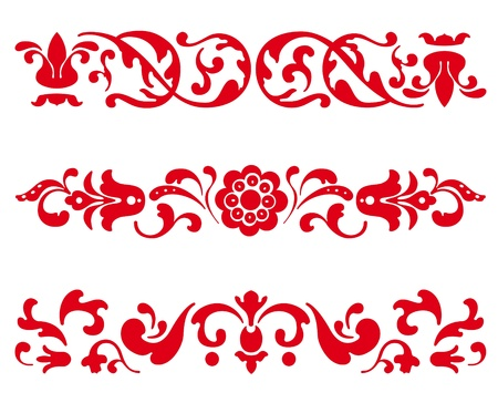 russian: Traditional Russian Ornament in three versions in vector