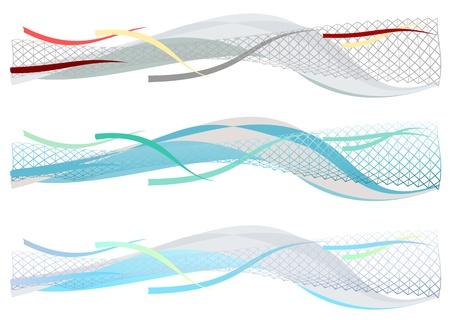 horizontal lines: Que sus p�ginas, presentaciones y cartas al estilo tecnol�gico Vectores
