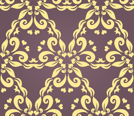 Seamless floral pattern against a uniform background Stock Vector - 11196469