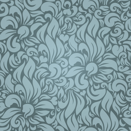 Seamless floral pattern against a uniform background