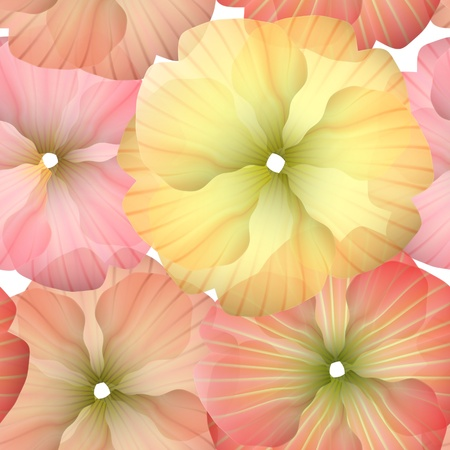 Seamless Primula Flowers Pattern for beautiful wallpapers Vector