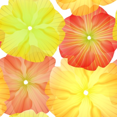 Seamless Primula Flowers Pattern for beautiful wallpapers Stock Vector - 11593291