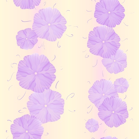 Seamless Primula Flowers Pattern for beautiful wallpapers Stock Vector - 11593289