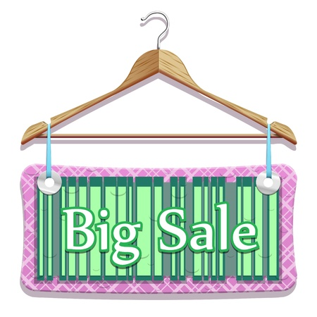 cost reduction: Big Sale Clothes Hangers in beautiful vector