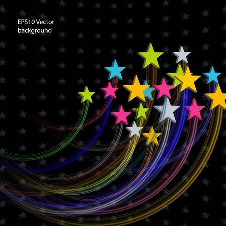 Stars Abstract background for design presentations and reports Stock Vector - 11674306