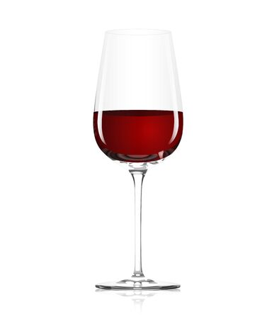 glass of red wine Stock Vector - 11832984
