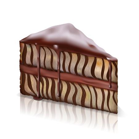 trozo de pastel: pedazo de la torta