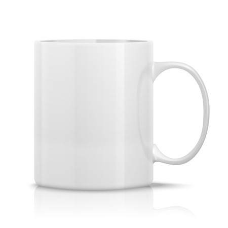 white mug Stock Vector - 11978400