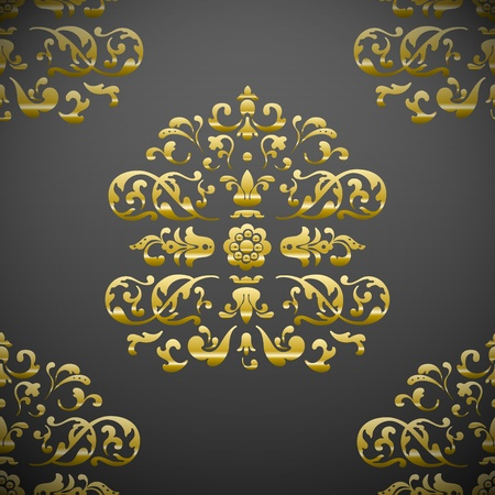 Seamless royal floral pattern Stock Vector - 11978399