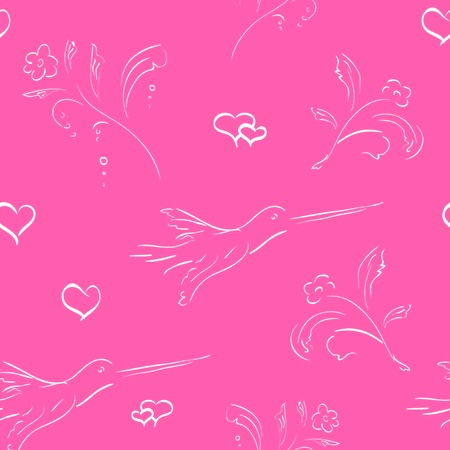seamless valentine background Stock Vector - 12107743