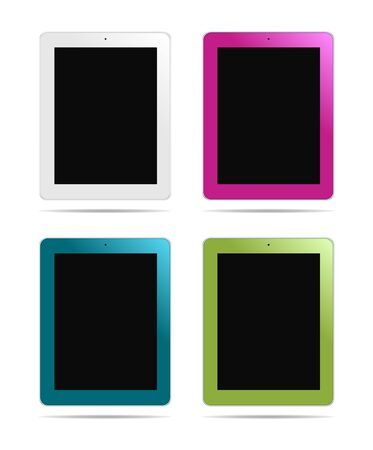 Tablet PC different colors Stock Vector - 12107744