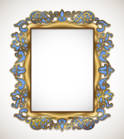 ornamentation: floral gold frame