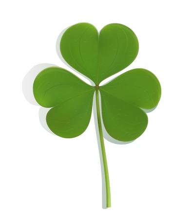four leafed clover: tr�bol verde