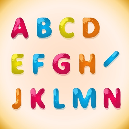 Children's candy alphabet 1(29).jpg Stock Vector - 12473551