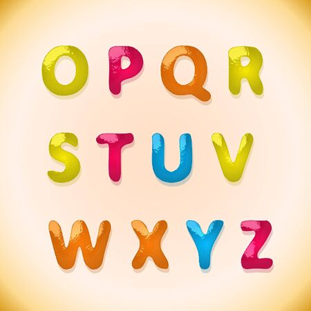 Children's candy alphabet 2(29).jpg Stock Vector - 12473547