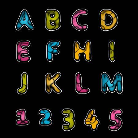 Leather alphabet A-Z Stock Vector - 12473542