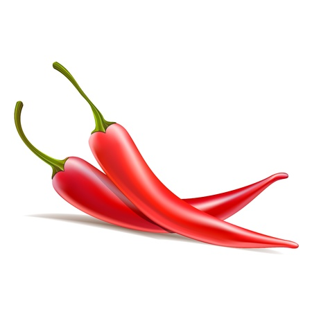 chili pepper: one red chili pepper is the other
